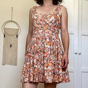 Floral Pattern Forever 21 Dress- Fall Colors!